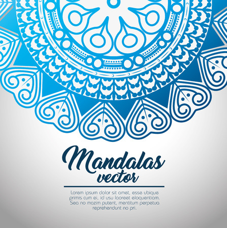 mandala vintage template  vector illustration graphic design Çizim