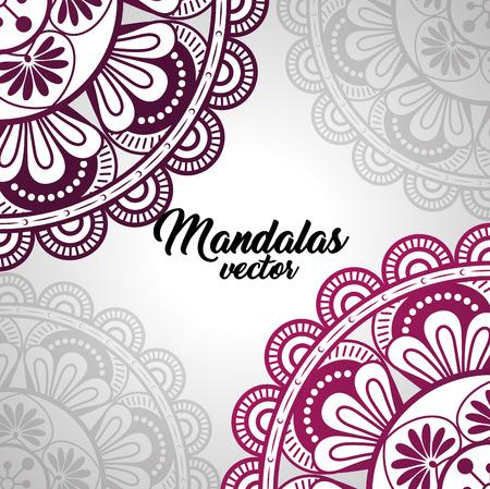 mandala vintage template  vector illustration graphic design Ilustrace