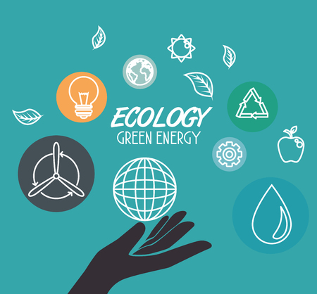 Green Eco concept design vector illustration graphic