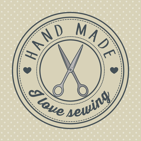 vintage hand made logotypes and labels craft knitting art labels tags with lettering vector illustration graphic design