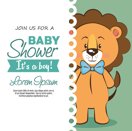 baby shower boy invitation card vector illustration graphic design