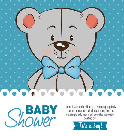 baby douche jongen uitnodigingskaart vector illustratie grafisch ontwerp