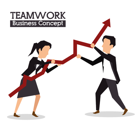 associates: colleagues collaboration teamwork business concept vector illustration graphic design