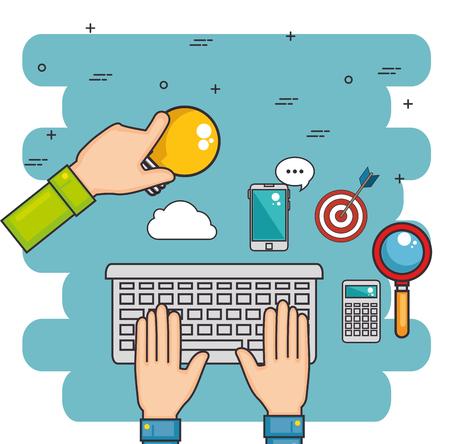 teamwork business concept vector illustration graphic design