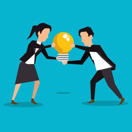 colleagues collaboration teamwork business concept vector illustration graphic design