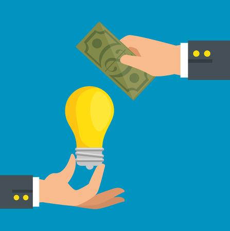 お金の概念ベクトル イラスト グラフィック デザインを保存します。
