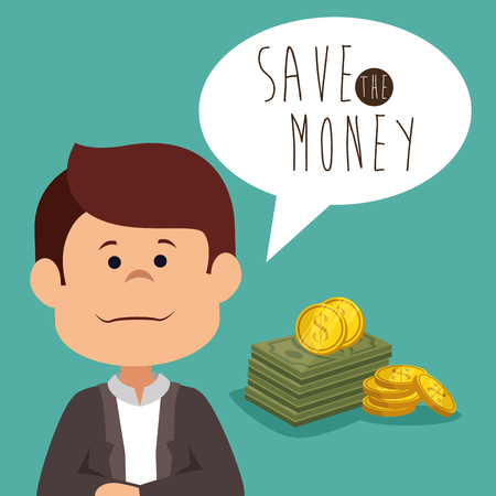 save money concept  vector illustration graphic design