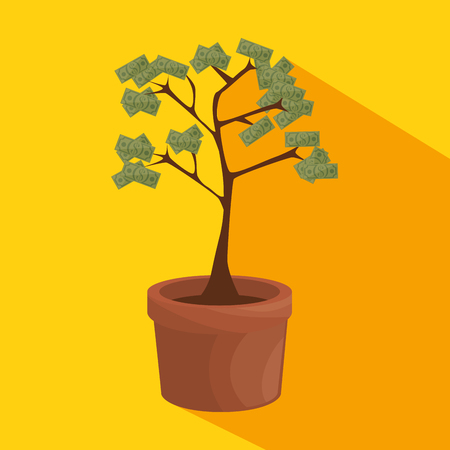 money tree business concept vector illustration graphic design