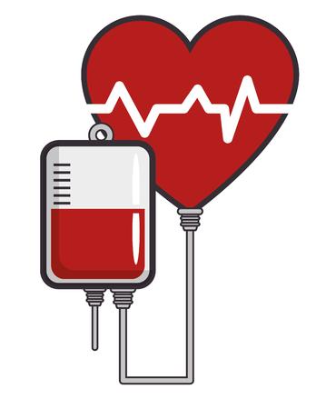 blood donation symbol vector illustration graphic design Vettoriali