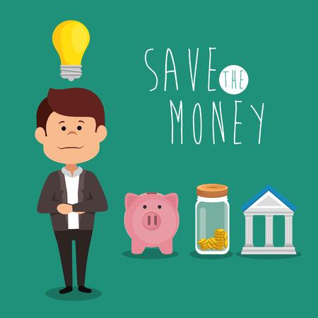 save money concept vector illustration graphic design