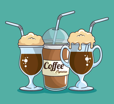 A frappe and cold drink coffee vector illustration graphic design.