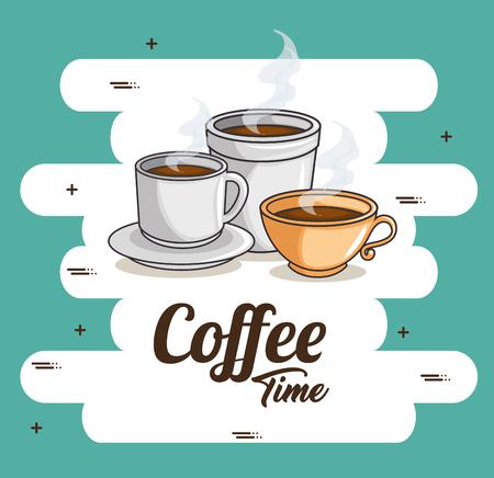 커피 컵 아이콘 벡터 일러스트 그래픽 디자인.