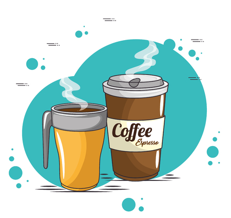 A coffee cups icon vector illustration graphic design.