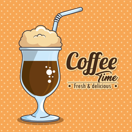 frappe and cold drink coffee vector illustration graphic design Ilustração