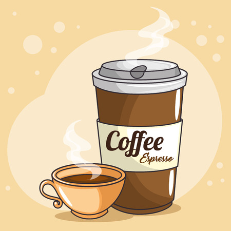 coffee cups icon vector illustration graphic design
