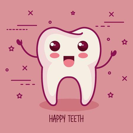 tooth over pink background vector illustration Illustration