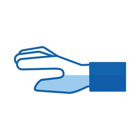 Human hand cartoon icon vector illustration design graphic Ilustracja