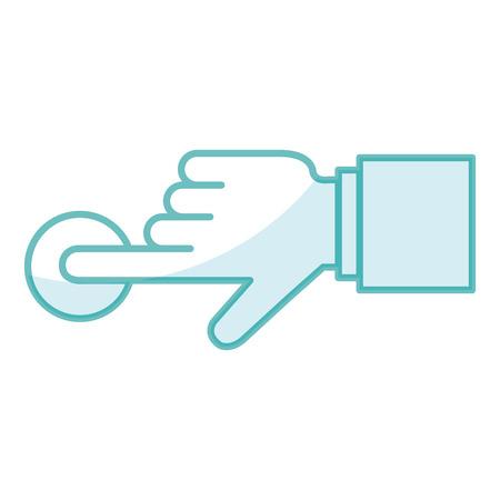 touch point hand pictogram vector illustratie ontwerp afbeelding