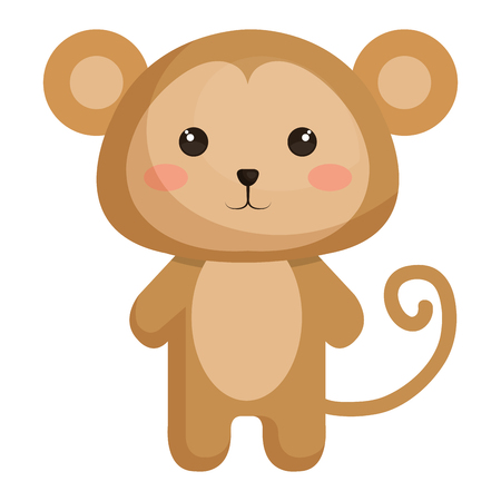 animal monkey icon vector illsutration design graphic