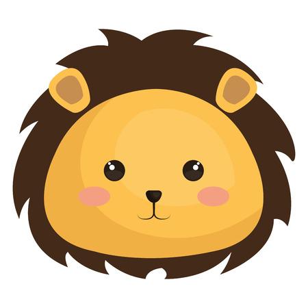dierlijk leeuw pictogram vector illustratie ontwerp afbeelding