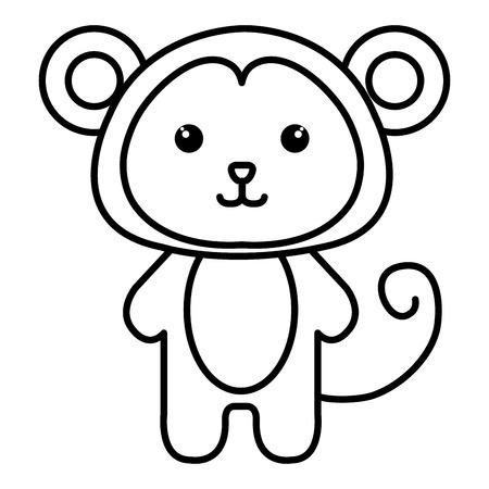 animal monkey icon vector illsutration design image Illusztráció