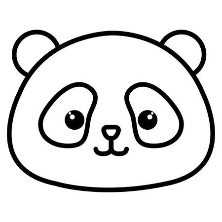 animal panda icon vector illustration design image
