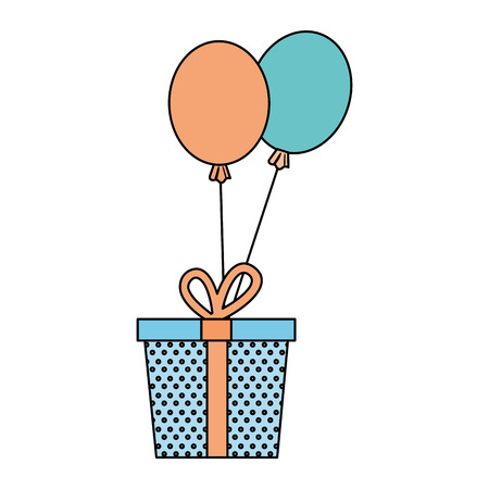 Surprise party gift icon vector illustration design graphic