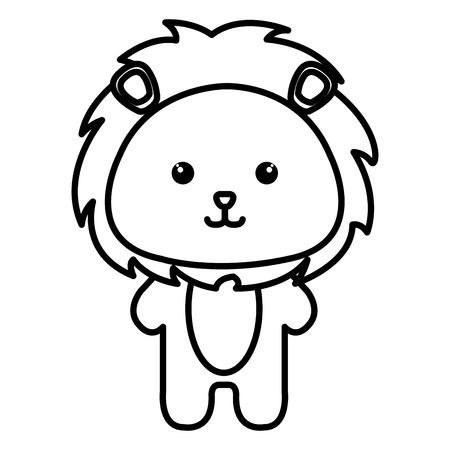 Dier leeuw icoon vector illustratie ontwerp afbeelding Stock Illustratie