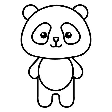 panda animal icône vector illustration design image