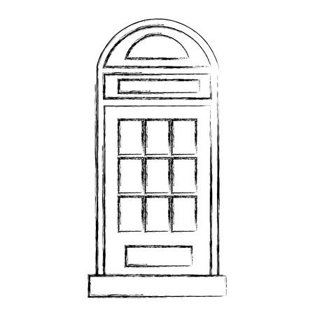 Londen telefoon taxi geïsoleerde pictogram vector illustratie ontwerp