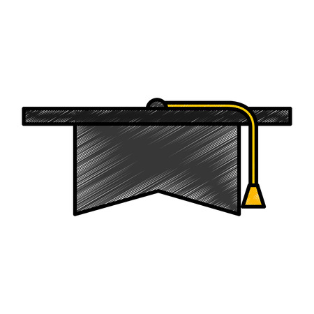 graduation hat isolated icon vector illustration design