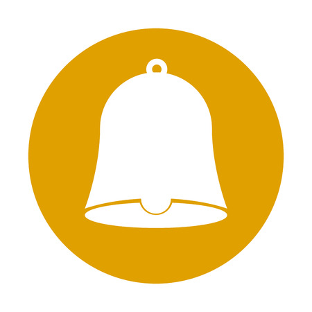 school bell isolated icon vector illustration design