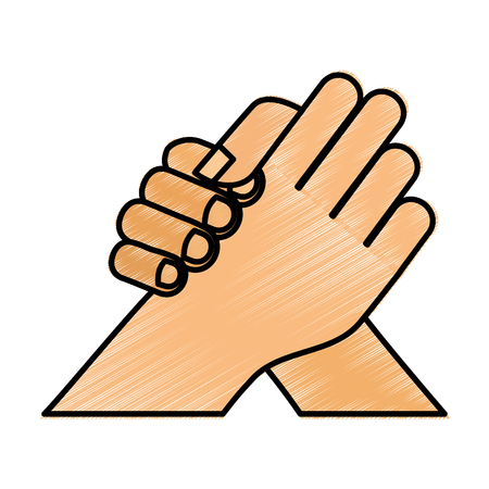 hand shake isolated icon vector illustration design Ilustrace
