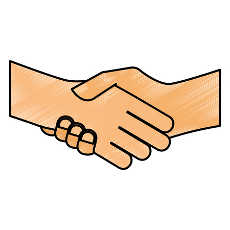 hand shake isolated icon vector illustration design Иллюстрация