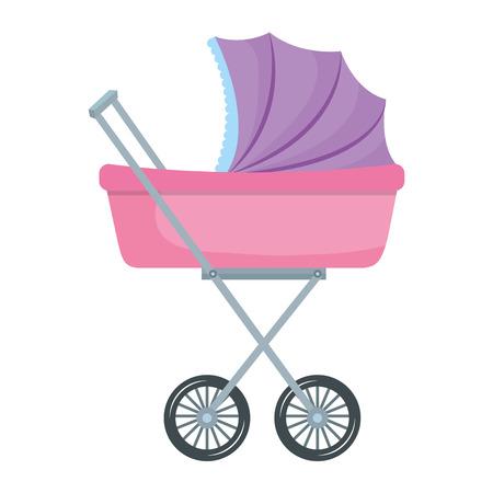 Gráfico del diseño del ejemplo del vector del icono del pequeño coche del bebé Foto de archivo - 81008347
