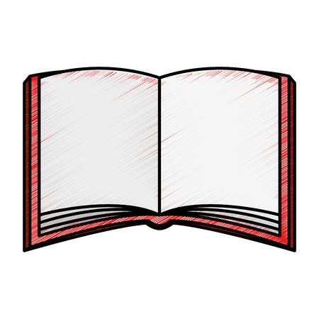 Tekstboek geïsoleerd pictogram vector illustratie ontwerp Stockfoto - 81008348