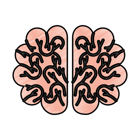 storm brain isolated icon vector illustration design 向量圖像
