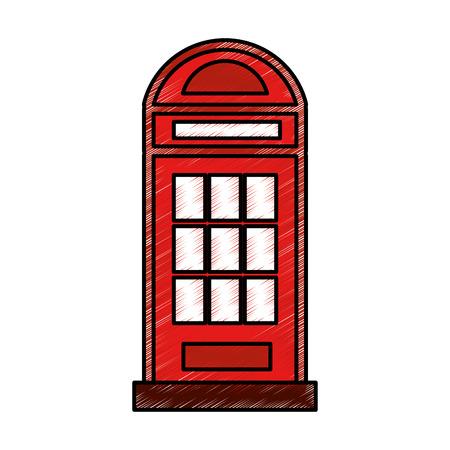 런던 전화 택시 고립 된 아이콘 벡터 일러스트 레이 션 디자인