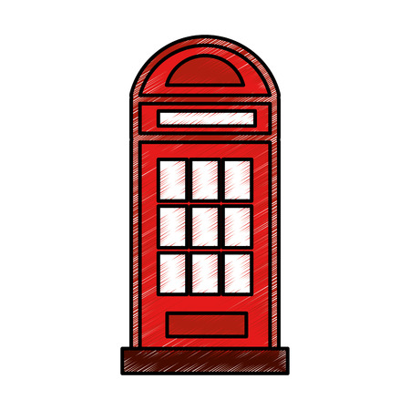 london phone cab isolated icon vector illustration design