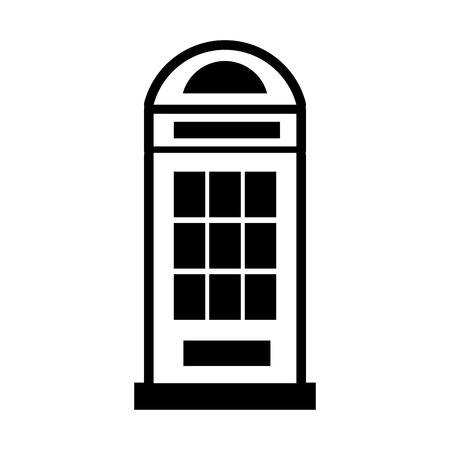 London teléfono cabina icono aislado diseño de la ilustración vectorial Foto de archivo - 81008353