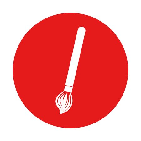 Verfborstel geïsoleerde pictogram vector illustratie ontwerp