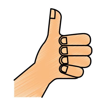 인간의 손에 아이콘 벡터 일러스트 디자인처럼 스톡 콘텐츠 - 81009000