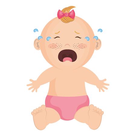赤ちゃんの洋服の泣いているアイコン ベクトル イラスト デザイン グラフィック