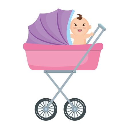 赤ちゃん車小さいアイコン ベクトル イラスト デザイン グラフィック