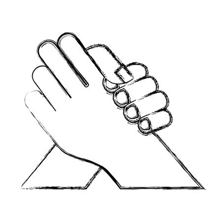 手ふれ分離アイコン ベクトル イラスト デザイン  イラスト・ベクター素材