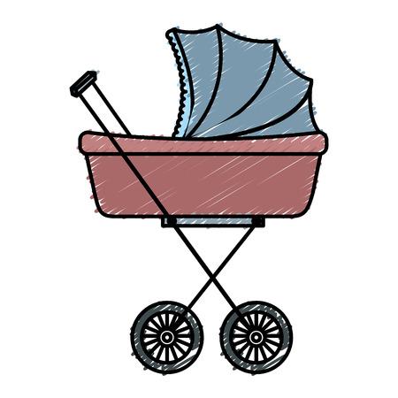 Gráfico del diseño del ejemplo del vector del icono del pequeño coche del bebé Foto de archivo - 81009299