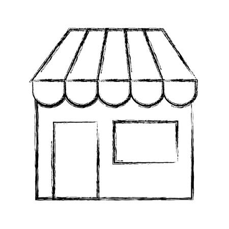 store building isolated icon vector illustration design