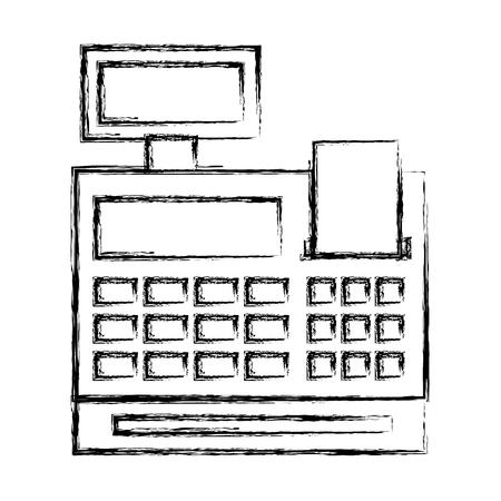 kasa na białym tle ikona wektor ilustracja projektu