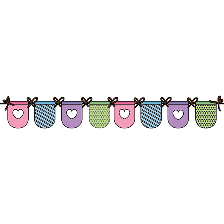 Beautiful accessories baby icon vector illustration design graphic