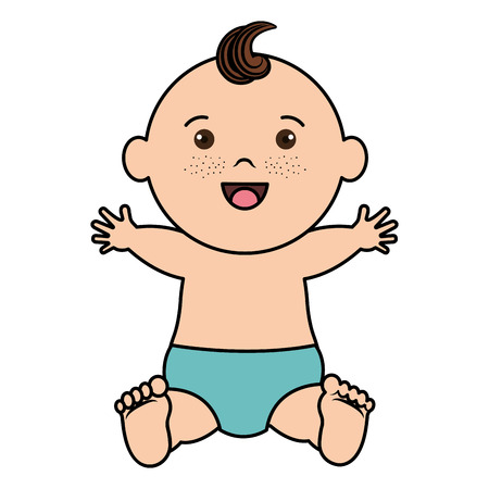 Baby clothes happy icon vector illustration design graphic Illustration